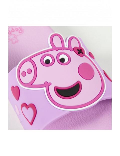Klapki dziewczęce Świnka Peppa różowe