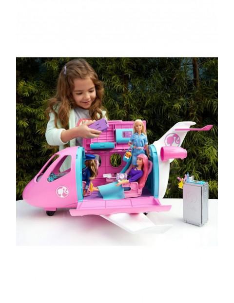 Barbie Dreamhouse Adventures - Różowy Samolot Barbie + 15 Akcesoriów wiek 3+