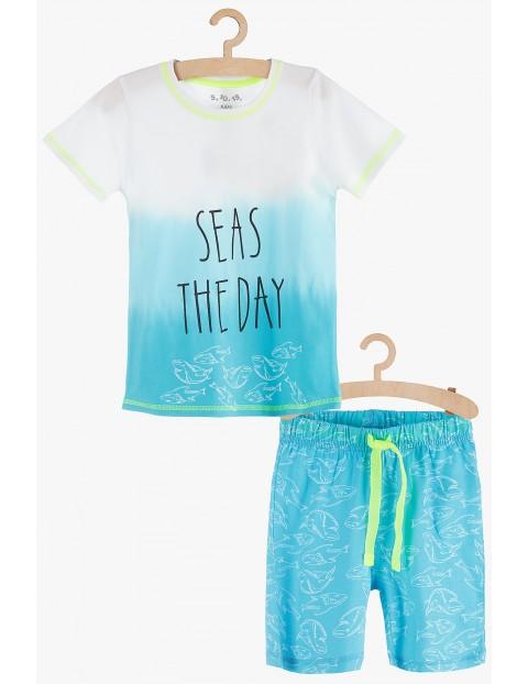 "Pidżama chłopięca niebieska ""Seas the Day"""