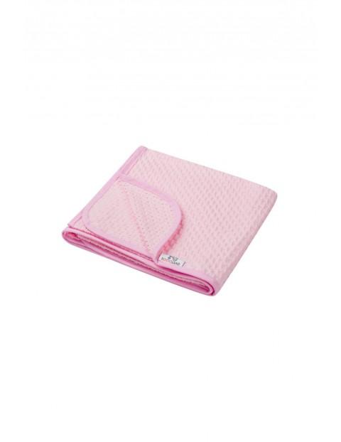 Kocyk bawełniany 80 x 90 cm - różowy