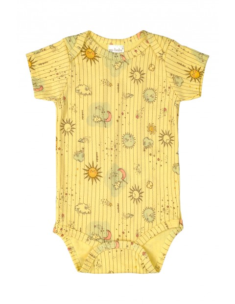 Body niemowlęce żółte- 100% bawełna