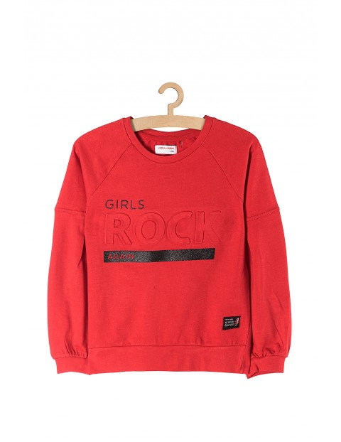 Bluza dziewczęca czerwona Rock