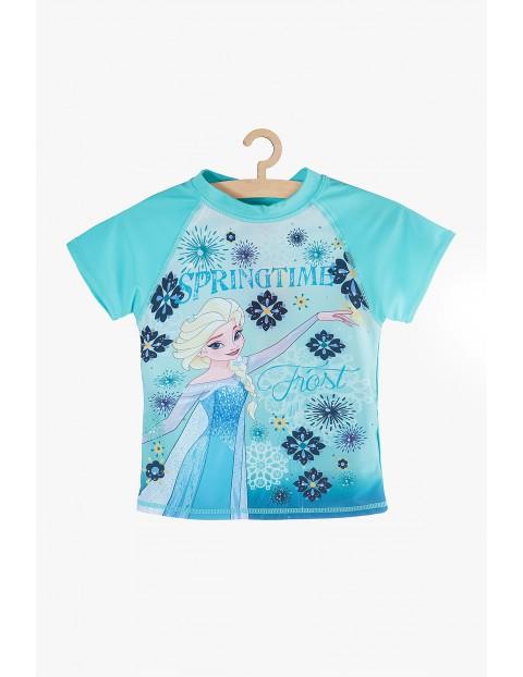 T-Shirt kąpielowy dla dziewczynki Frozen- niebieski