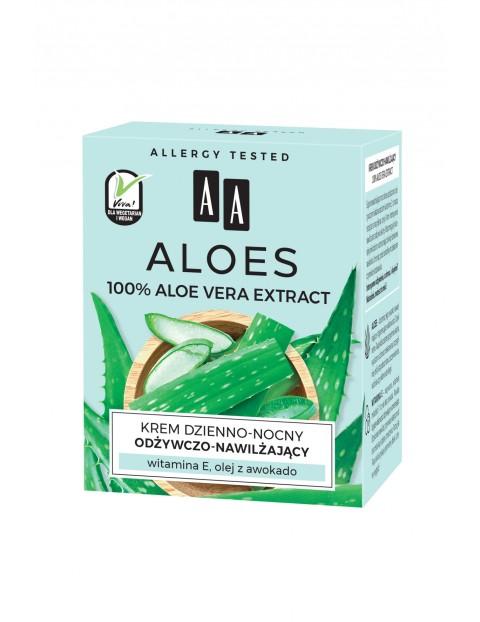 AA Aloes 100% aloe vera extract krem dzienno-nocny odżywczo-nawilżający 50 ml