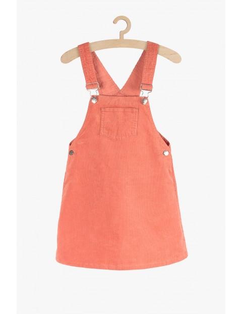 Sukienka sztruksowa- ogrodniczka