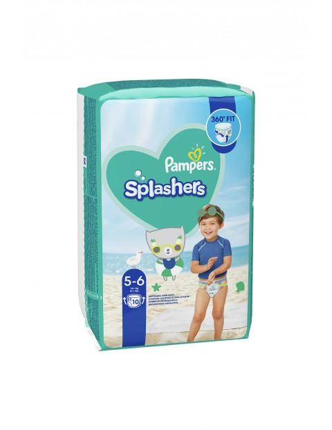 Pampers Splashers, Rozmiar 5-6, 10 Jednorazowych pieluch do pływania