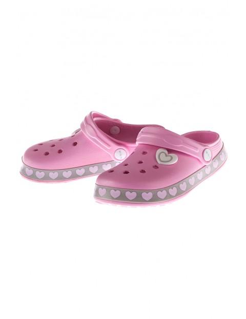 Sandały ogrodowe dla dziewczynki-różowe