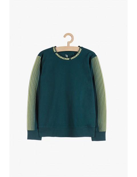 Cienka dzianinowa bluza chłopięce- zielona