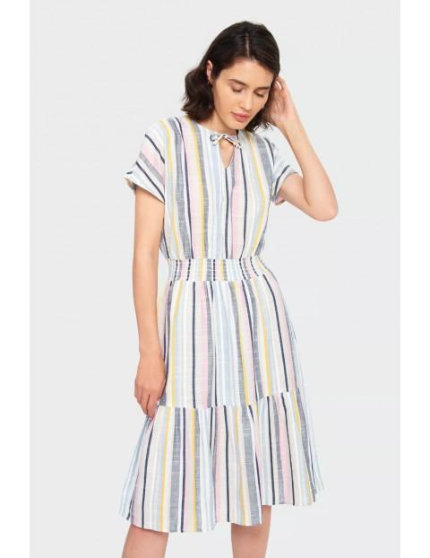 Wiskozowa sukienka w paski