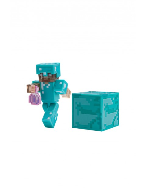Figurka Steve z eliksirem niewidzialności Minecraft