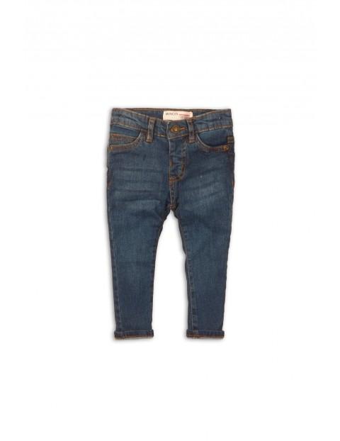 Niebieskie spodnie jeansowe dla chłopca rozm 92/98