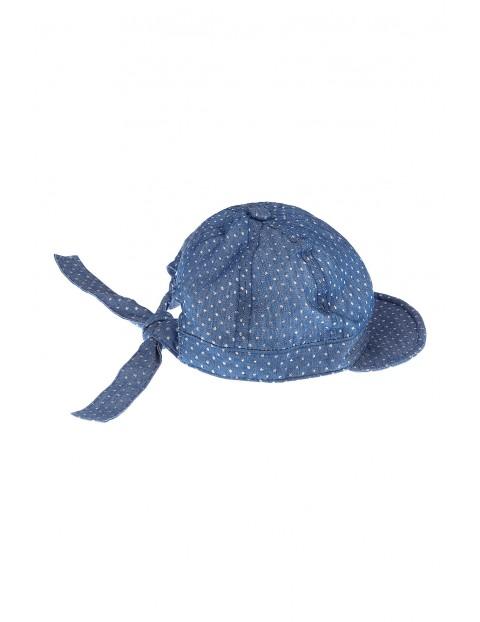 Czapka z daszkiem dla dziewczynki- niebieska