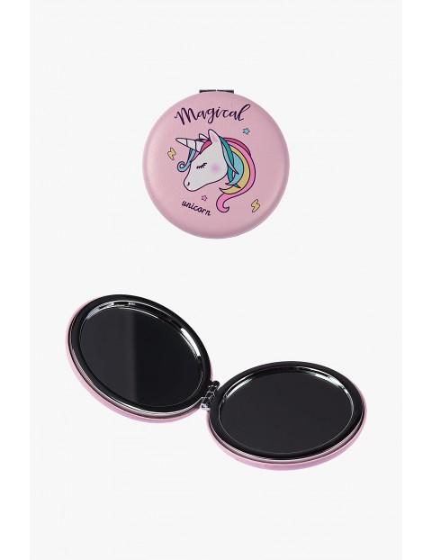 Lusterko dla dziewczynki różowe z jednorożcem