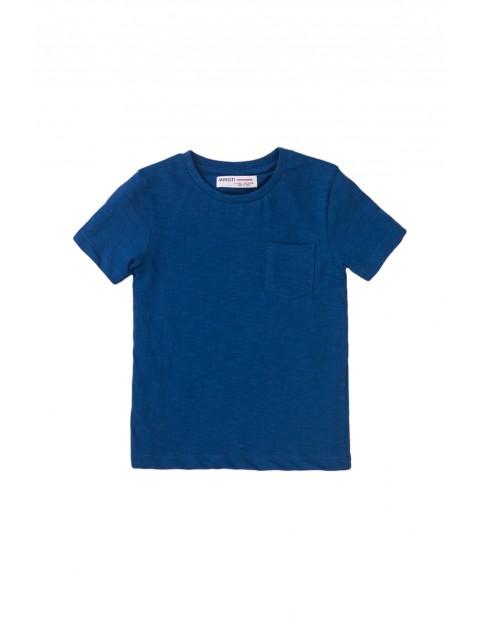 Bawełniany T-shirt niemowlęcy granatowy