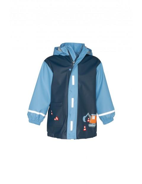 Płaszcz przeciwdeszczowy dla chłopca-koparka