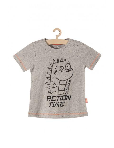 Koszulka chłopięca z potworkiem- szara