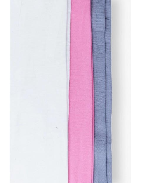 Rajstopy niemowlęce szare kremowe różowe 3-pak