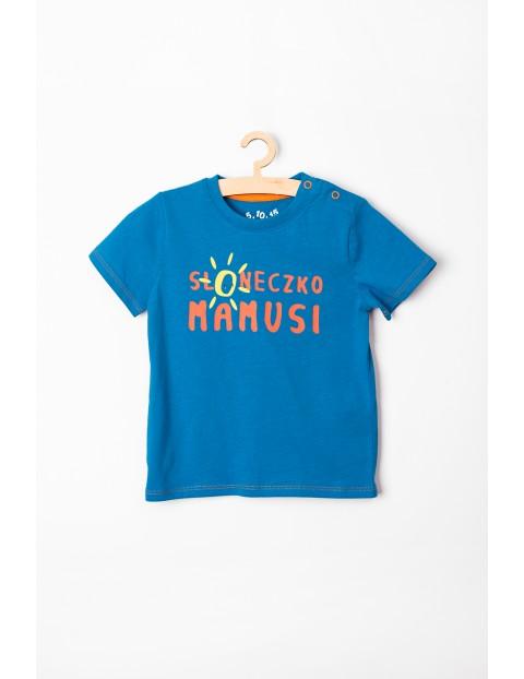 """T-shirt niemowlęcy niebieski """"Słoneczko mamusi"""""""