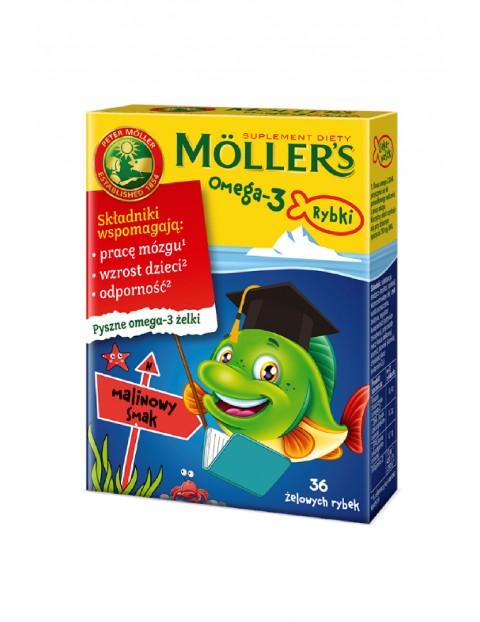 Möller's Omega-3 Rybki żelki malinowe wzmacniające odporność36szt