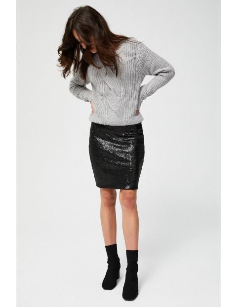 Czarna spódnica cekinowa- mini