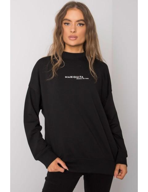 Czarna bluza damska z nadrukiem