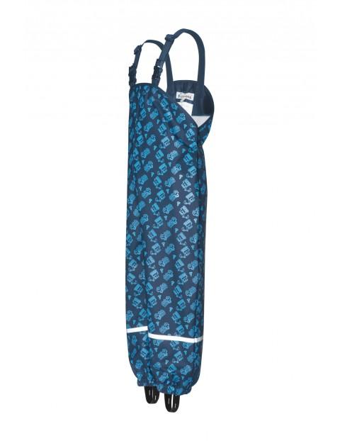 Spodnie przeciwdeszczowe koparka granatowe