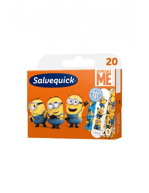 Salvequick KIDS plastry opatrunkowe Minionki 20 szt.