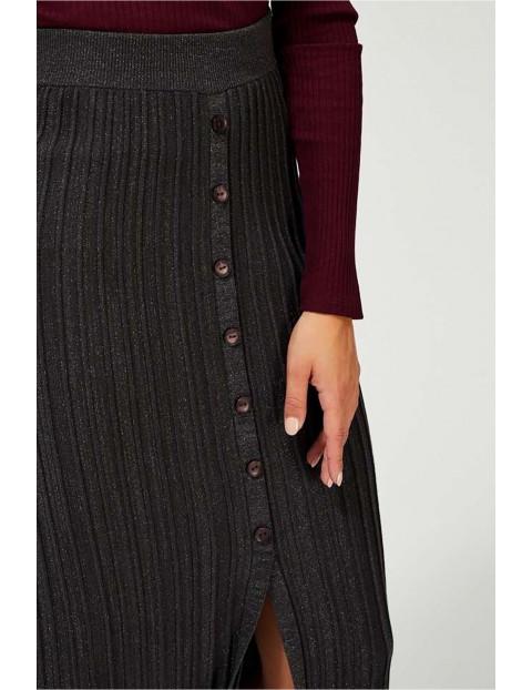 Spódnica plisowana o ołówkowym kroju - czarna
