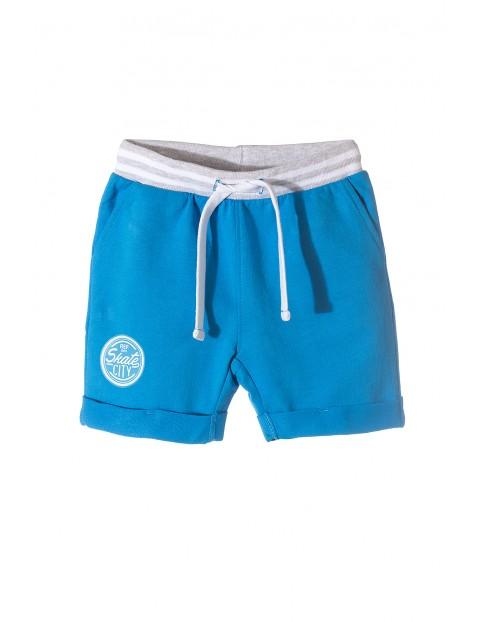 Krótkie spodenki dla chłopca- niebieskie