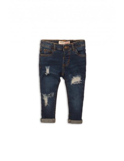 Niebieskie jeansowe spodnie dla niemowlaka