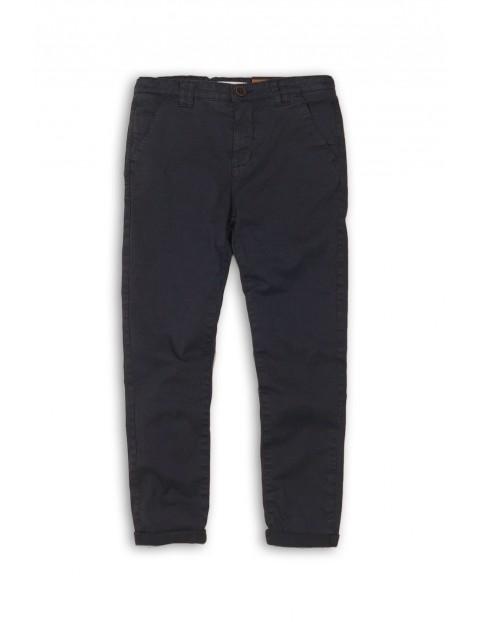 Spodnie chłopięce granatowe- chinosy