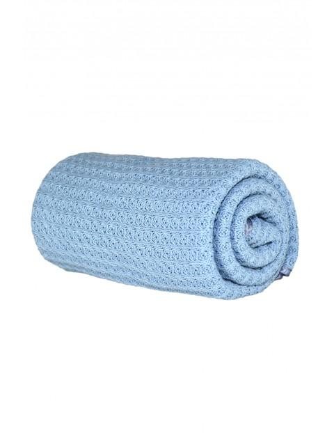 Kocyk bawełniany sweter - niebieski
