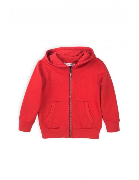 Bluza dresowa chłopięca z kapturem czerwona