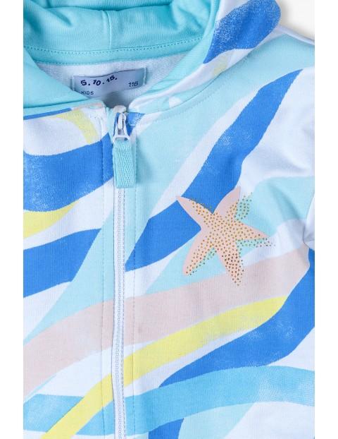 Bluza dresowa dziewczęca z kapturem