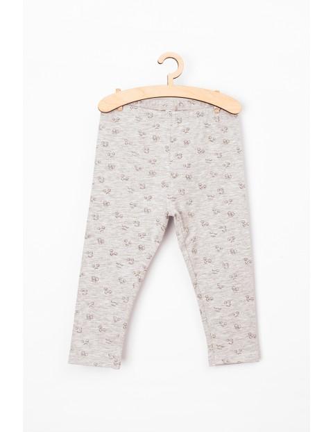 Leginsy dla niemowlaka- szare