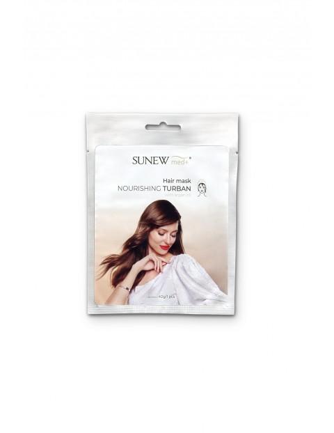 SunewMed+ Silnie odżywcza maska do włosów w formie turbanu z olejkiem arganowym