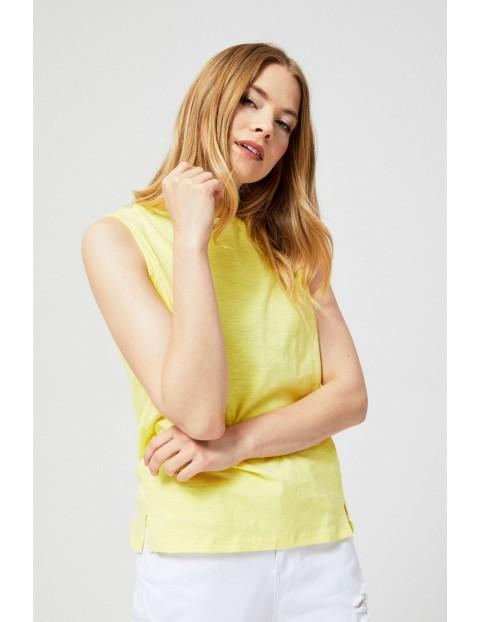 Bawełniana bluzka typu top o luźnej formie żółta