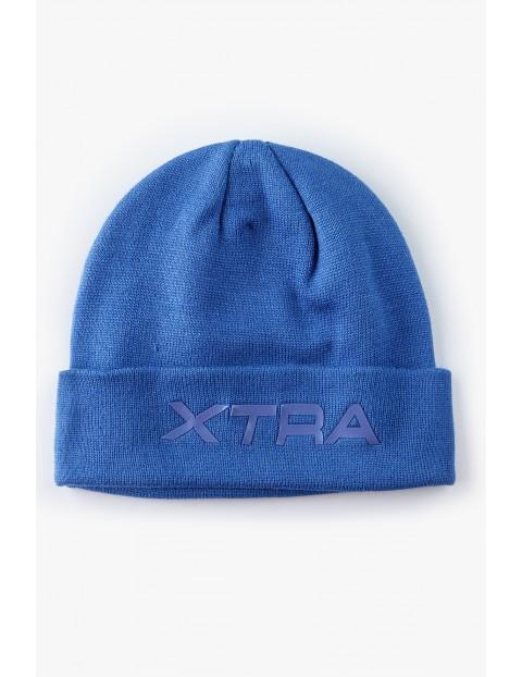Czapka chłopięca niebieska- Xtra