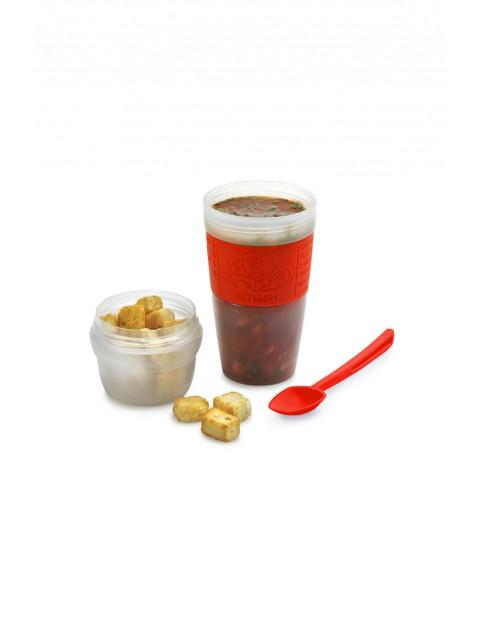 Soup cup mover 560ml - pojemnik na zupę / owsiankę z łyżką. zawór ciśnieniowy w pokrywce