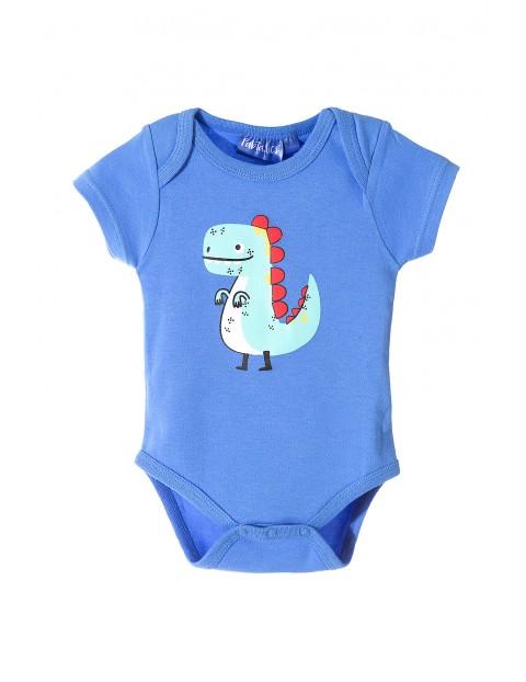 Bawełniane body dla niemowlaka- dino