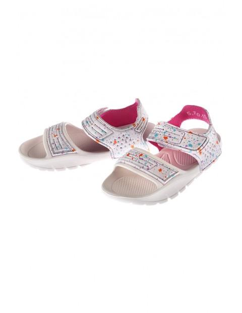 Sandały dla dziewczynki zapinane na rzep