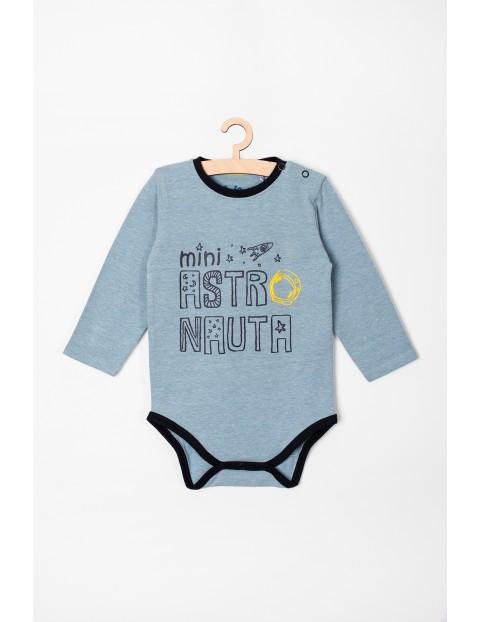 Body chłopięce dzianinowe z napisem- Mini Astronauta