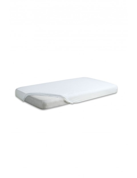 Prześcieradło do łóżeczka jersey 60x120cm - białe