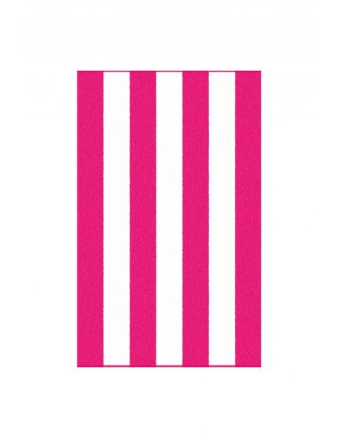 Ręcznik Neon z bawełny egipskiej różowo-białe paski100x160cm