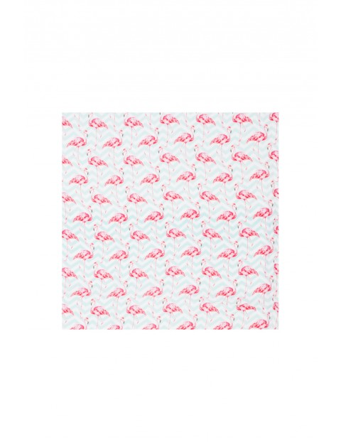 Pielucha bambusowa Flamingi 120x120cm