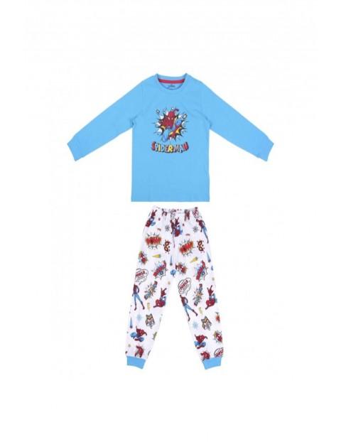 Piżama chłopięca  Spiderman - niebieska