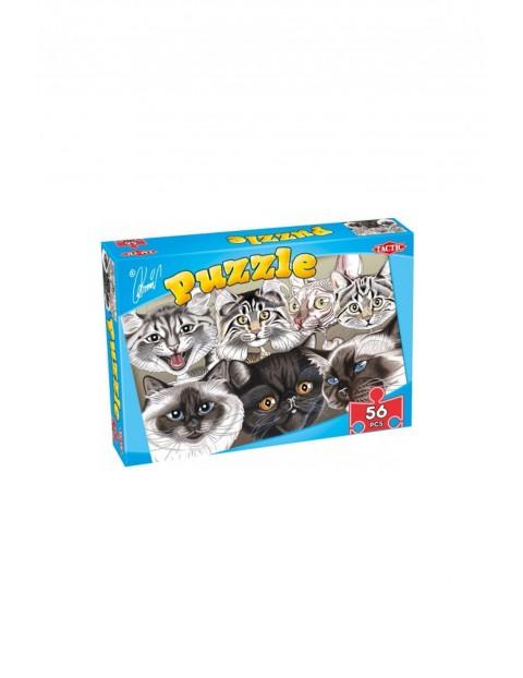 Puzzle karykatury psów&kotów 56el.3Y33IT