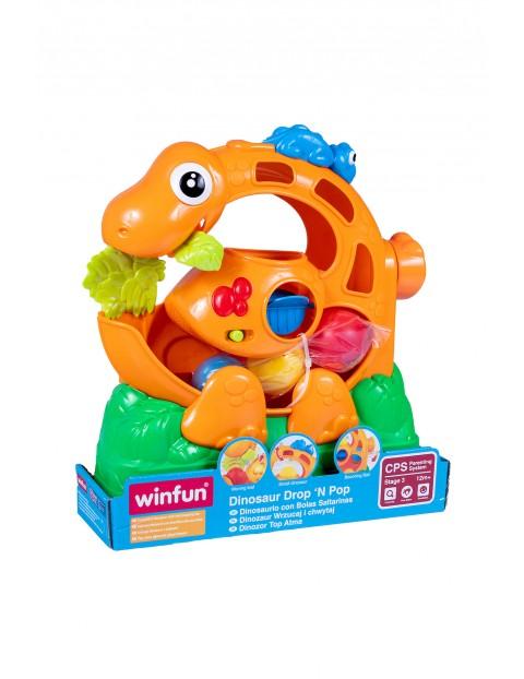 Dinozaur z piłeczkami Smily Play wiek 12msc+
