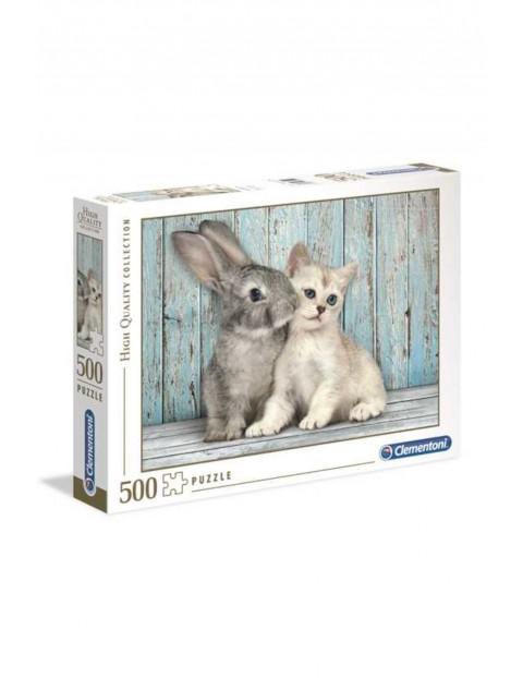 Puzzle Kotek i Królik Clementoni- 500 el