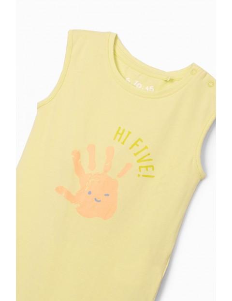 Zielone body niemowlęce z nadrukiem Hi Five!